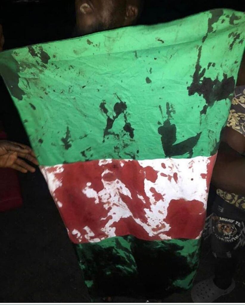 EndSARS - Bloodied Nigerian Flag