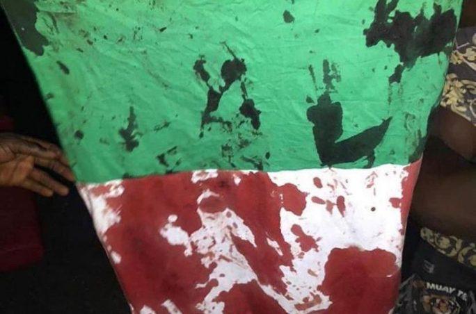 EndSARS - Bloodied Nigerian Flag